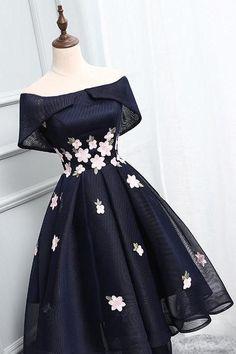 Off Shoulder Homecoming Dresses,Navy Blue Homecoming Dresses, Short Prom Dress, Elegant Prom Dresses, Prom Party Dresses, Pretty Dresses, Beautiful Dresses, Dress Party, Wedding Dresses, Formal Dresses, Awesome Dresses, Long Dresses