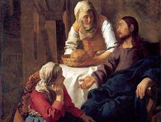 Jan Vermeer, Cristo in casa di Marta e Maria, 1656, National Gallery of Scotland, Edimburgo.
