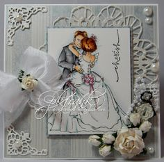 Beautiful wedding card with Mo Manning image.  Very pretty.