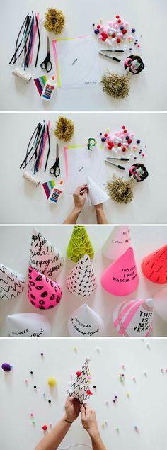 DIY creative party hats