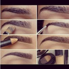 Magic trick for cleaning up eyebrows- a great idea for those in between stages when you're growing them out. ~w