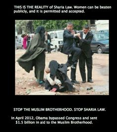 In April of 2012 Obama BYPASSED congress and sent billion dollars to the Muslim Brotherhood. They say public beating of women are just fine and acceptable. What kind of president do we have? Stop the Muslim Brotherhood. Stop Sharia law. Muslim Brotherhood, Sharia Law, Out Of Touch, Believe, God Bless America, Way Of Life, American, We The People, Wake Up