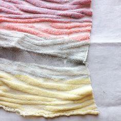 Lillian Jackson Textiles: Grad school swatch c. neon & silver lurex yarns felted w. Cast On Knitting, Knitting Yarn, Knitting Machine, Textiles, Knitwear Fashion, Fabric Textures, Knit Shirt, Merino Wool, Swatch