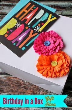 I Dig Pinterest: Birthday in a Box Gift Idea