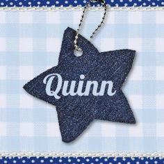 #Trendy #geboortekaartje met een stoere #ster van #spijkerstof. Quinn   denim ster   Snoesjes