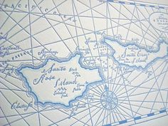 Letterpress map of the Channel Islands, from Etsy's Quail Lane Press. For L.