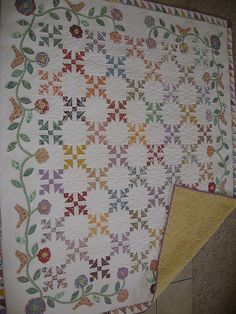 Old Fashioned Charm - I would make it with just the middle and leave out this border and design a different border.