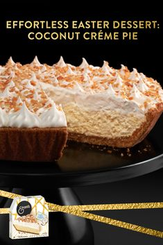 Pick up Edwards Triple Coconut Crème Pie for Easter in the frozen dessert aisle. Winter Desserts, Fun Desserts, Delicious Desserts, Dessert Recipes, Yummy Food, Tasty, Steak Recipes In Oven Dinners, Fancy Dinner Recipes, Easy Cheesecake Recipes