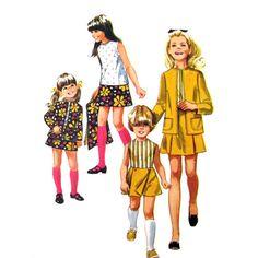 1960s Girls Pantskirt Skirt Blouse & Jacket Pattern Simplicity 8622 UNCUT Size 12, $8.95