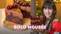 BOLO MOUSSE FLORESTA NEGRA | DANI NOCE | RECEITA DE NATAL 🎄 Banoffee Pie, Sweet Pie, No Bake Desserts, Barista, Youtubers, Birthday Cake, Make It Yourself, Baking, Cakes