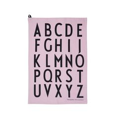 The unique typography used by Design Letters was originally hand drawn in 1937 by the world renowned Danish Architect Arne Jacobsen. This famous typography is now available on a series of beautiful and stylish designs. Set of 2 Cotton cm Lettering Design, Design Letters, Shops, Pink Design, Retro, Tea Towels, Modern Design, Textiles, Creative