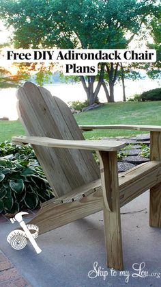 Diy Furniture Chair, Diy Furniture Easy, Diy Furniture Plans Wood Projects, Easy Woodworking Projects, Diy Chair, Cool Diy Projects, Outdoor Projects, Outdoor Furniture, Adirondack Chair Plans