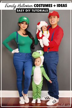 It's that time of year when everyone is trying to come up with fun and unique Halloween costume ideas. In today's blog post, I'm sharing tutorials of my family's costumes throughout the years and rounded up a list of my favorite costume ideas for the family. There's a range of easy to moderate DIYs, as well as ready to buy options too! You'll have a great time celebrating Halloween together and will have some great pictures to look back on!
