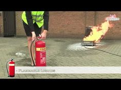 Fire Safety Training - How to Use a FOAM Fire Extinguisher