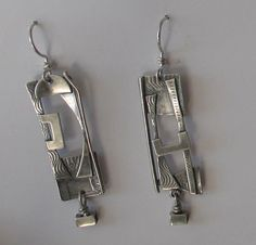 Sterling Silver Abstract  Earrings by jeanniehaydon on Etsy, $65.00
