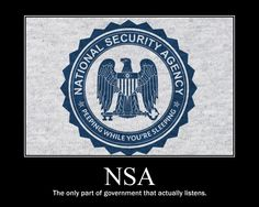 NSA.  The only part of government that actually listens.