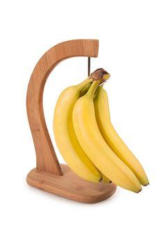 Loving this Organic Bamboo Banana Hanger on New Gadgets, Kitchen Gadgets, Banana Storage, Small Wood Projects, Hanger Hooks, Pink Zebra, Kitchen And Bath, Kitchen Stuff, Woodworking