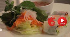 Vietnamské letní závitky Rice Paper Rolls, Fresh Rolls, Cabbage, Mexican, Vegetables, Ethnic Recipes, Food, Essen, Cabbages