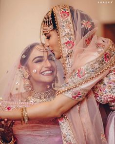 A Gorgeous Chandigarh Wedding With A Bride In Pastel Pink! - - Pastel themes, a gorgeous pink lehenga, and flowery decor in perfect coordination, this wedding was nothing less than Chanu & Digvijay found love in the air and decided to tie the. Indian Wedding Makeup, Indian Bridal Outfits, Desi Wedding, Bridal Dresses, Indian Wedding Bridesmaids, Punjabi Wedding Suit, Wedding Mandap, Indian Makeup, Wedding Hijab