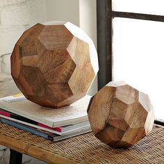 Love these faceted spheres. They need a little @Abbey Hendrickson treatment, though! :)