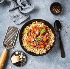 You searched for Middag - Franciskas Vakre Verden Bolognese, Grill Pan, Paella, Grilling, Ethnic Recipes, Kitchen, Food, Kitchens, Griddle Pan