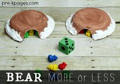 Bear More or Less Game for Preschool and Kindergarten with Free Printable