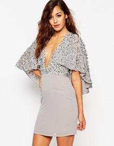 Image 1 - ASOS - Mini robe à cape ornementée