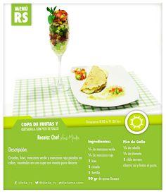 Inicia tu semana con una buena alimentación. Este es el platillo que nos preparó hoy nuestro Chef Luis Méndez, fácil, sencillo y rico.  #MenúRS #dieta_rs #Menú #Alimentación #Nutrición #MiVidaEsSaludable