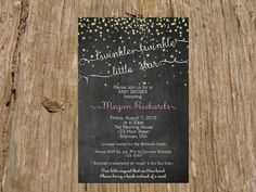 Twinkle Twinkle Little Star Chalkboard by RSVPinvitationsbyme