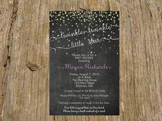 Twinkle Twinkle Little Star Chalkboard by RSVPinvitationsbyme