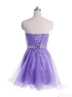 Sweetheart Tulle Beading Short Mini Homecoming Cocktail Dress #homecomingdress #SIMIBridal