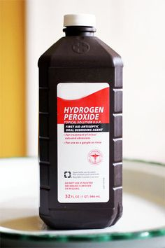 "HYDROGEN PEROXIDE MAGIC! - Ever since I started using Hydrogen Peroxide to get rid of armpit stains, to clean cookie sheets, as a miracle cleaner in my kitchen and bathroom, and to make my own ""oxi clean""…I ALWAYS have at least one bottle of the stuff under my kitchen sink, under my bathroom sink, AND in the laundry room. This stuff is amazingly versatile!"