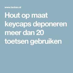 Hout op maat keycaps deponeren meer dan 20 toetsen gebruiken