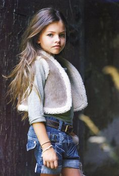 What a beautiful little girl! Already a model!