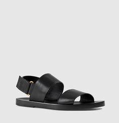 Gucci - Leather Sandal 397654BLM001000