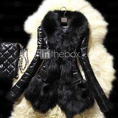 συνθετικό δέρμα faux γούνα παλτό σακάκι των γυναικών - EUR €23.51 ! ΚΑΥΤΟ προϊόν! Καυτό προϊόν σε χαμηλή τιμή τώρα σε προσφορά! Ελέγξετε το μαζί με άλλα παρόμοια προϊόντα. Αποκτήστε μεγάλες εκπτώσεις, κερδίστε Επιβραβεύσεις και άλλα με κάθε αγορά σας μαζί μας!
