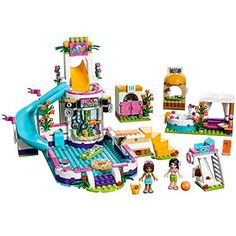 LEGO Friends Heartlake Summer Pool is one toy that creates fun in our house, our 10 year old loves it!! Lego Birthday, Birthday Gifts For Kids, Toys For Boys, Kids Toys, Lego Minecraft, Lego Lego, Lego Batman, Lego Ninjago, Minecraft Buildings