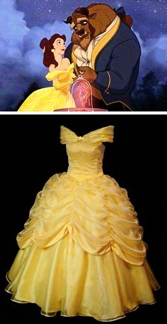 Adult custom made belle gown. This lady's etsy shop does custom made costumes for any character! ~~ SWEET! I want one!!!!