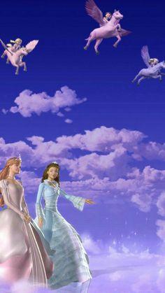 Movie Wallpapers, Cute Cartoon Wallpapers, Disney Art, Disney Pixar, Barbie Pegasus, Japonese Girl, Barbie Cartoon, Princess And The Pauper, 12 Dancing Princesses
