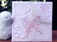 Winged Beauty on vellum by jasonw1 - Cards and Paper Crafts at Splitcoaststampers