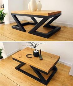 35 Uniquely and Cool Diy Coffee Table Ideas for Small Living Room - HomePrit - Table Design Welded Furniture, Iron Furniture, Steel Furniture, Unique Furniture, Industrial Furniture, Table Furniture, Luxury Furniture, Modern Wooden Furniture, Office Furniture
