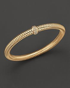 "Roberto Coin Yellow Gold Stretch ""Primavera"" Bracelet | Bloomingdale's Wedding & Gift Registry"