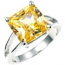 Citrine Princess Solitaire