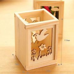 wooden pencil holder - Google Search Wood Pen Holder, Pencil Holder, Pen Holders, Laser Cut Wood, Laser Cutting, Laser Cutter Ideas, Cute Cuts, Wood Ideas, Wood Toys
