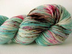 SOLD - Sock Yarn Hand dyed Superwash Merino Nylon - Cherry Blossom. $23.00, via Etsy.