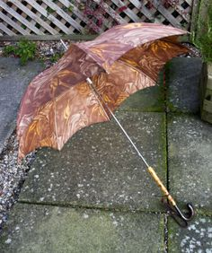Vintage 30s/40s/50s Autumn Browns Umbrella Bamboo Lucite Long Handle FREE UK P&P in Clothes, Shoes & Accessories, Women's Accessories, Umbrellas   eBay