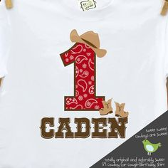 western birthday little cowboy (or cowgirl) t shirt