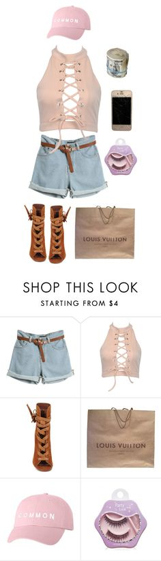 """""""Untitled #145"""" by gintarytee ❤ liked on Polyvore featuring Gianvito Rossi, Louis Vuitton and Etude House"""