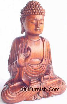 BUDDHA WOOD CARVINGS BALI