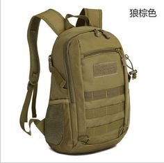 Camping bags,Waterproof Molle Backpack Military 3P Gym School Trekking Ripstop Woodland Tactical Gear small for men 15L